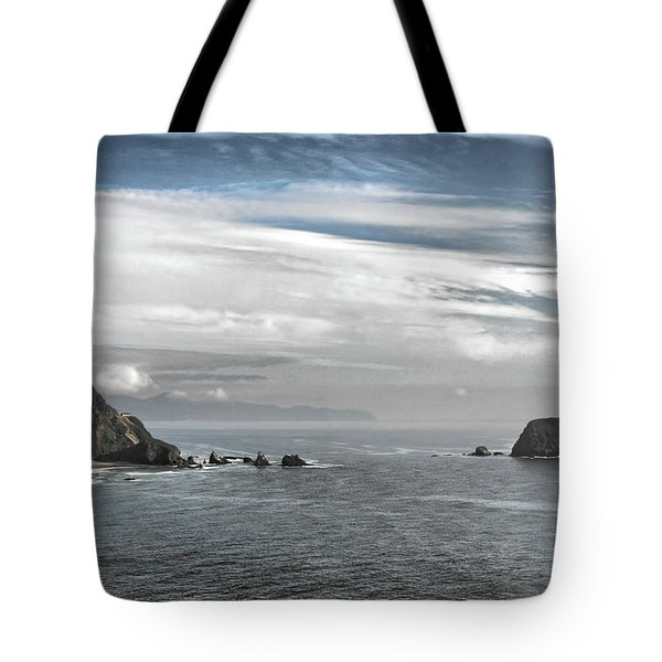 Three Arch Rocks National Wildlife Refuge Near Cape Meares Oregon Tote Bag by Christine Till