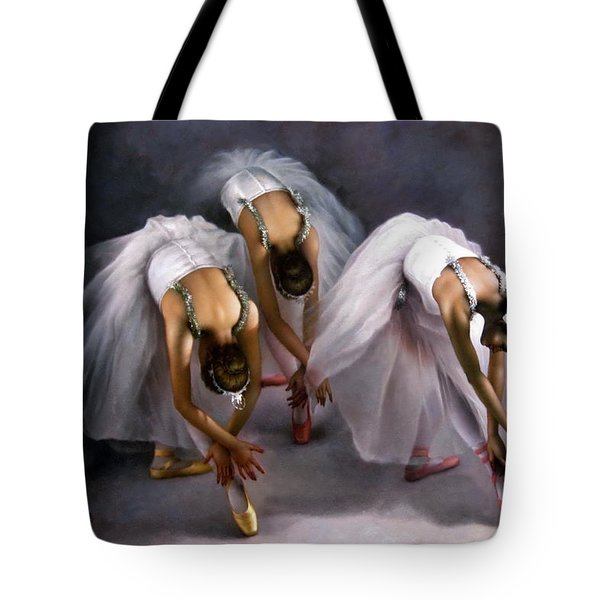 Three Ballerina Tote Bag