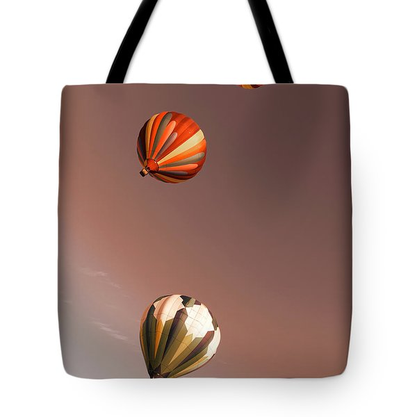 Three Balloons Swirling Skyward Tote Bag