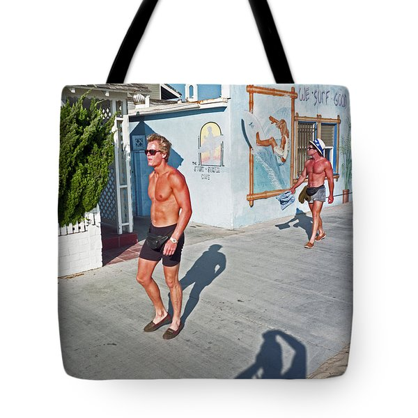 Three Beefcakes Tote Bag