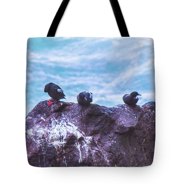 Tote Bag featuring the photograph Three Birds by Jonny D