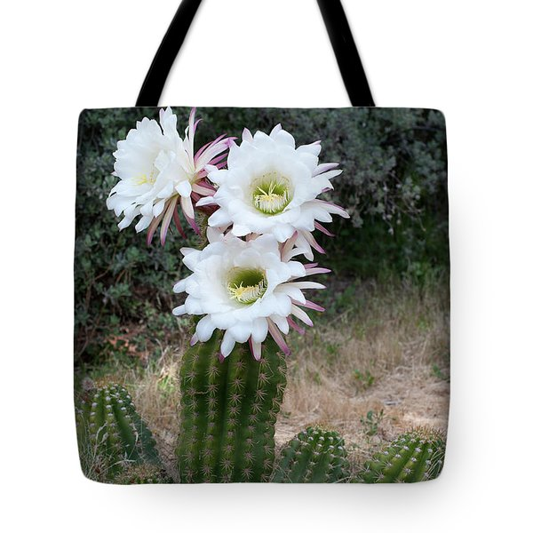 Tote Bag featuring the photograph Three Blossoms by Monte Stevens