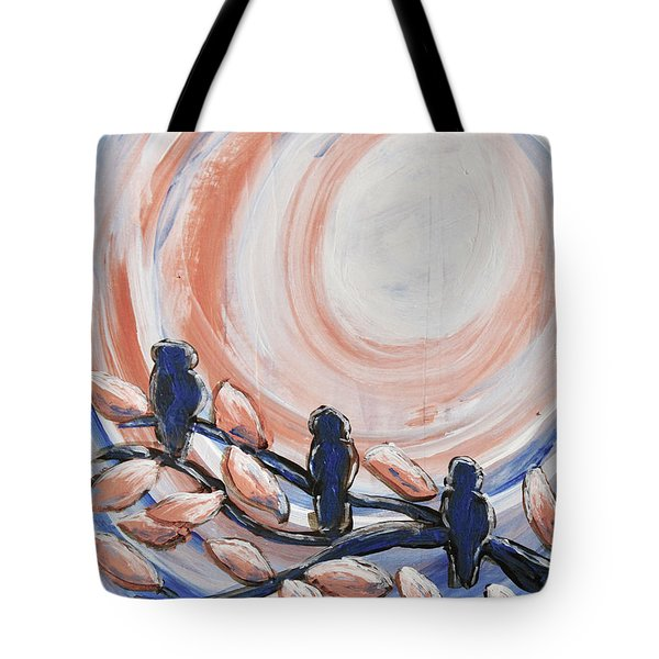Three Blue Tote Bag