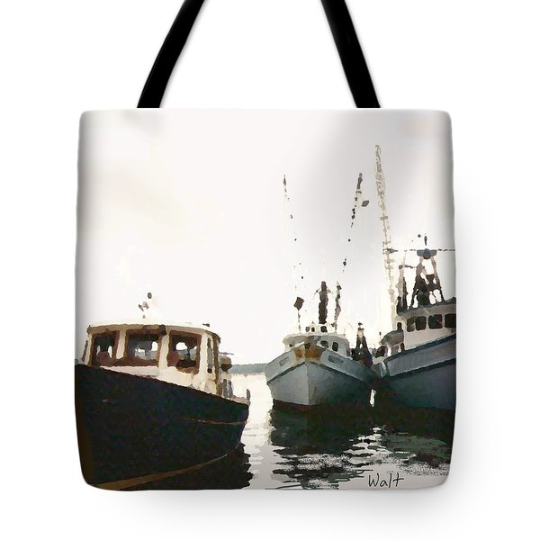 Tote Bag featuring the photograph Three Boats by Walter Chamberlain