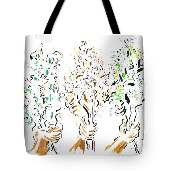 Three Bouquets Tote Bag