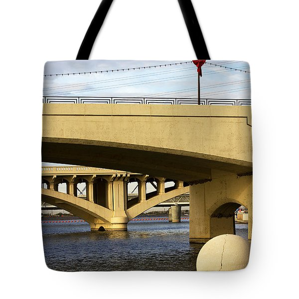 Tote Bag featuring the photograph Three Bridges by Phyllis Denton