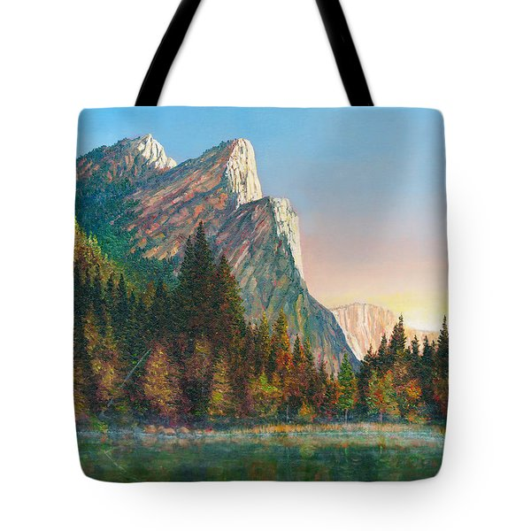 Three Brothers Morning Tote Bag