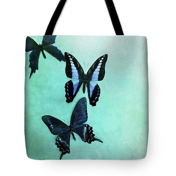 Three Butterflies Tote Bag