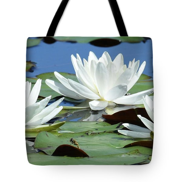 Tote Bag featuring the photograph Three Candle Holders by Sally Sperry