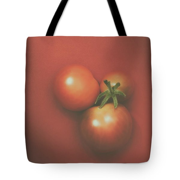 Three Cherry Tomatoes Tote Bag by Scott Norris