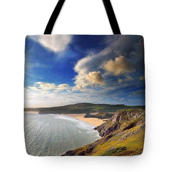 Three Cliffs Bay 1 Tote Bag