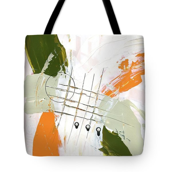 Tote Bag featuring the painting Three Color Palette Orange 3 by Michal Mitak Mahgerefteh