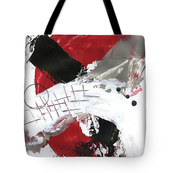 Tote Bag featuring the painting Three Color Palette Red 2 by Michal Mitak Mahgerefteh