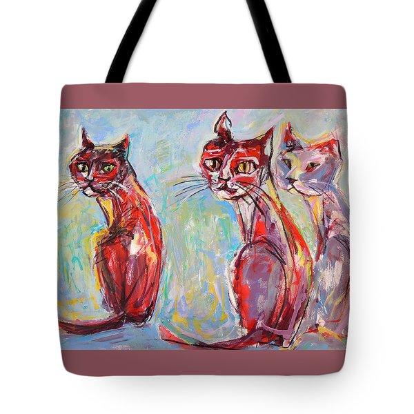 Three Cool Cats Tote Bag
