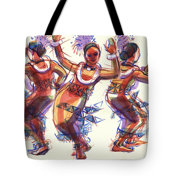 Three Dancers Of Tongatapu Tote Bag