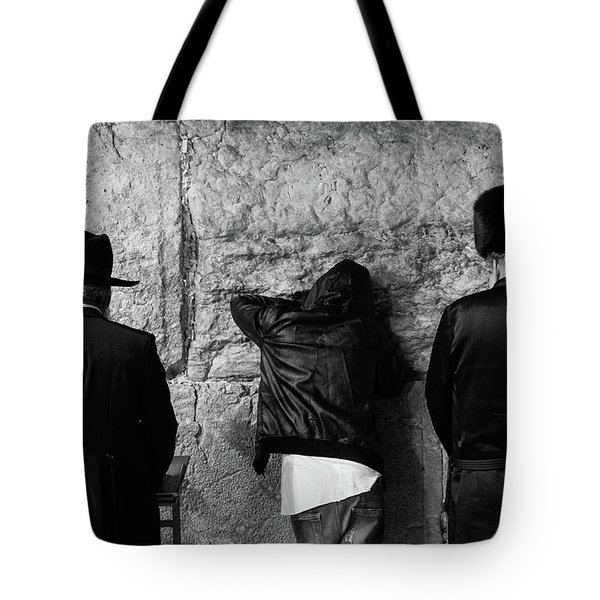 Three Different Selichot Prayers At The Kotel Tote Bag by Yoel Koskas