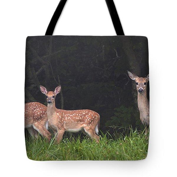 Three Does Tote Bag
