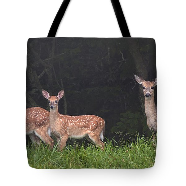 Three Does Tote Bag