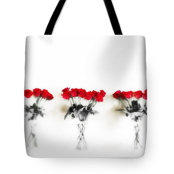 Three Dozen Roses Tote Bag by Scott Pellegrin