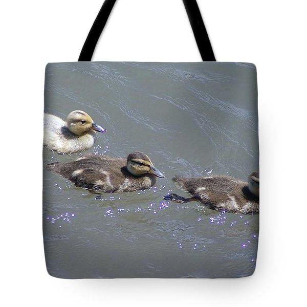 Three Duckies  Tote Bag