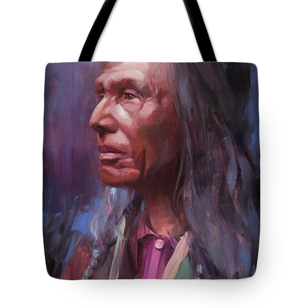 Tote Bag featuring the painting Three Eagles by Steve Henderson
