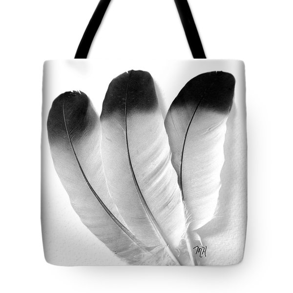 Three Feathers Tote Bag by Marsha Heiken