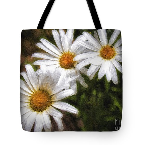 Tote Bag featuring the photograph Three Flowers  ... by Chuck Caramella