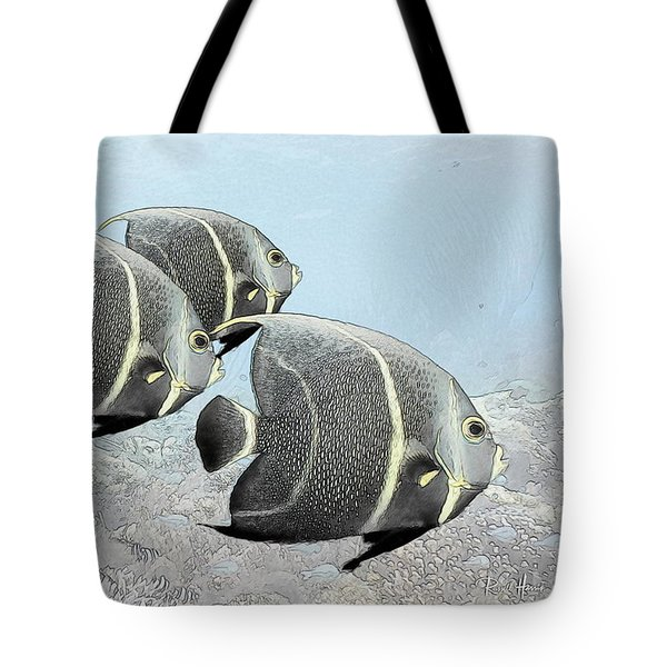 Three French Angels Tote Bag