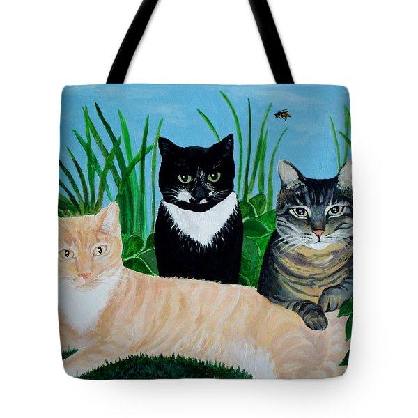Three Furry Friends Tote Bag