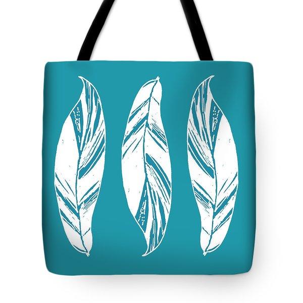 Three Ginger Leaves - Teal Tote Bag