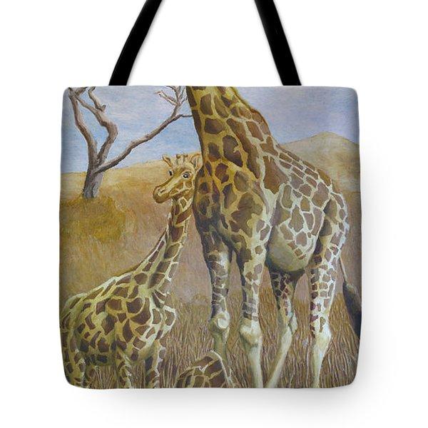 Three Giraffes Tote Bag