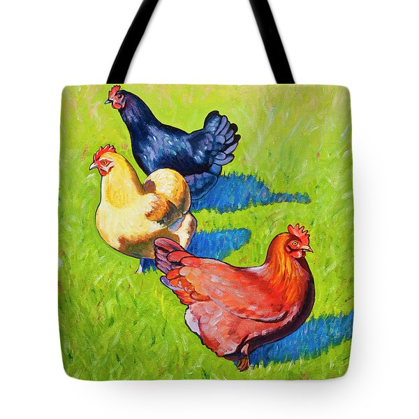 Three Girls Tote Bag