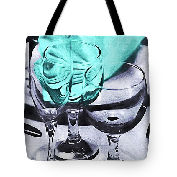 Three Glass Illusion Tote Bag