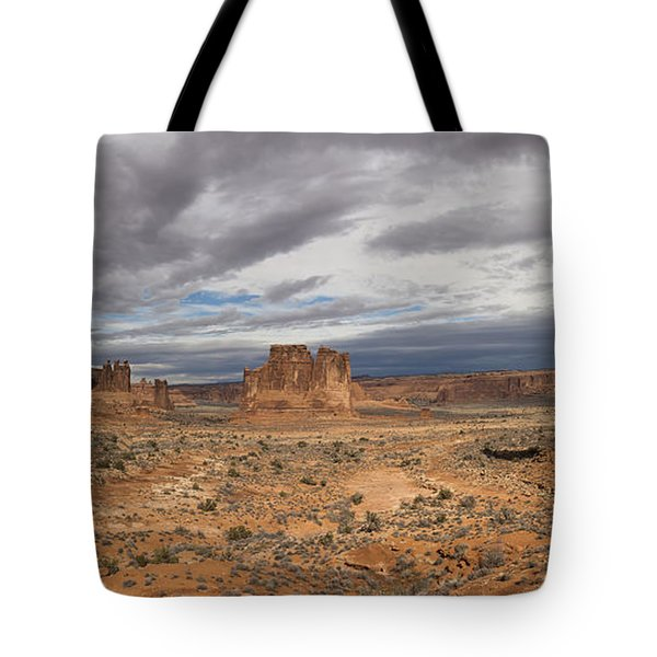 Three Gossips And Courthouse Towers Panorama - Arches National Park - Moab Utah Tote Bag
