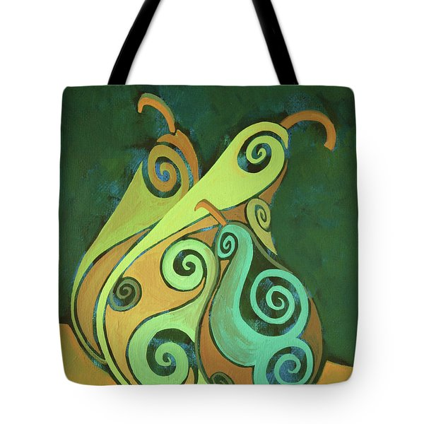 Three Groovy Little Pears Tote Bag
