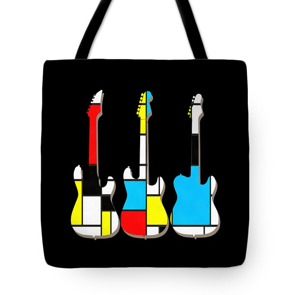Three Guitars Modern Tee Tote Bag
