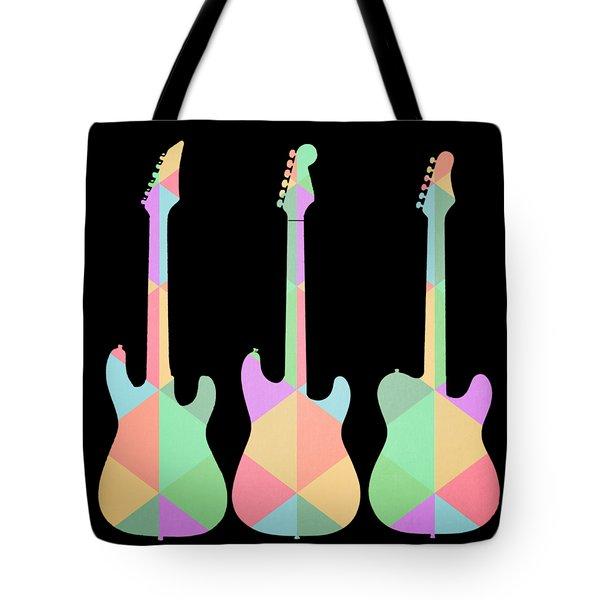 Three Guitars Triangles Tee Tote Bag