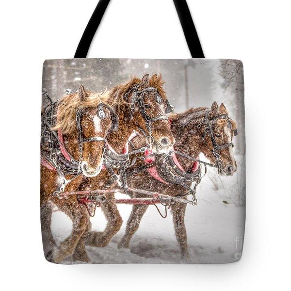Three Horses - Color Tote Bag