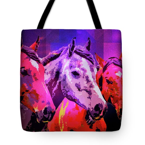 Three Horses Tote Bag