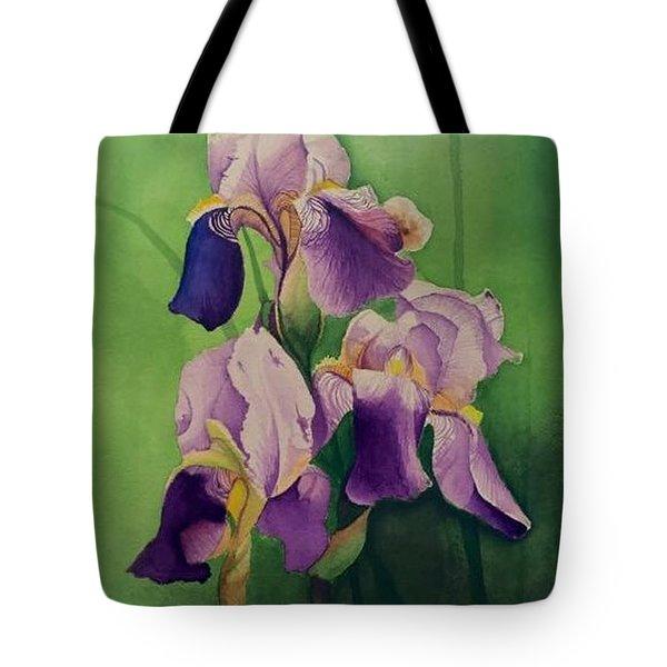 Three Iris Tote Bag