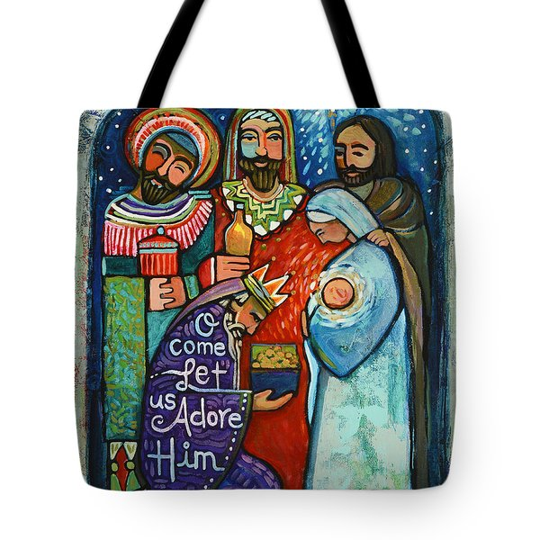 Three Kings O Come Let Us Adore Him Tote Bag
