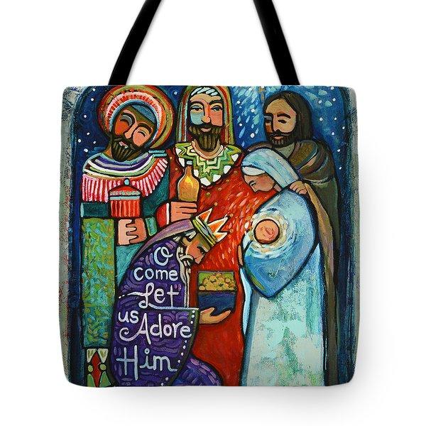 Three Kings O Come Let Us Adore Him Tote Bag
