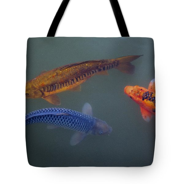 Three Koi Tote Bag by Steve Gravano