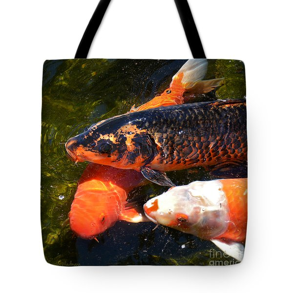 Three Koi Waiting Tote Bag