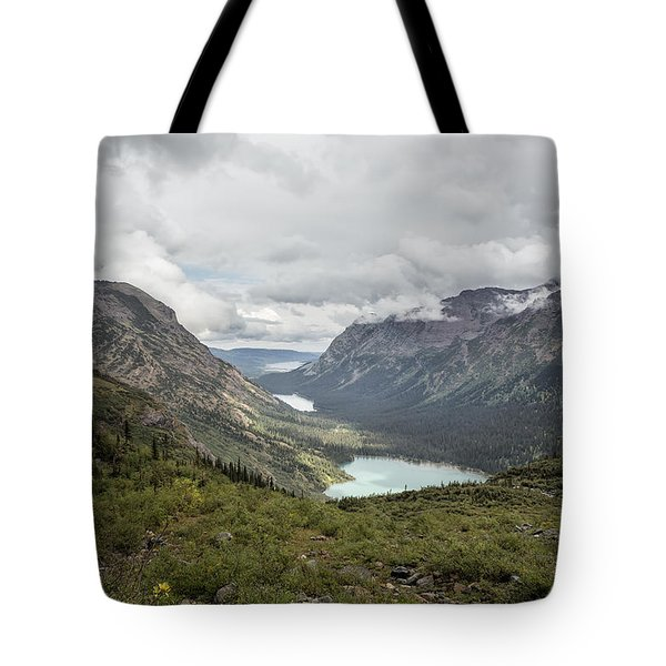 Three Lakes Viewed From Grinnell Glacier Tote Bag