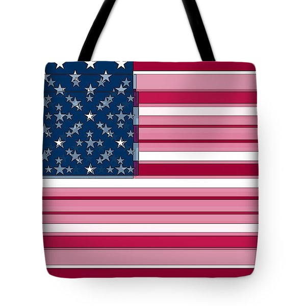 Three Layered Flag Tote Bag