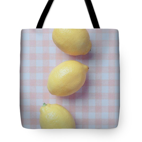 Three Lemons Tote Bag