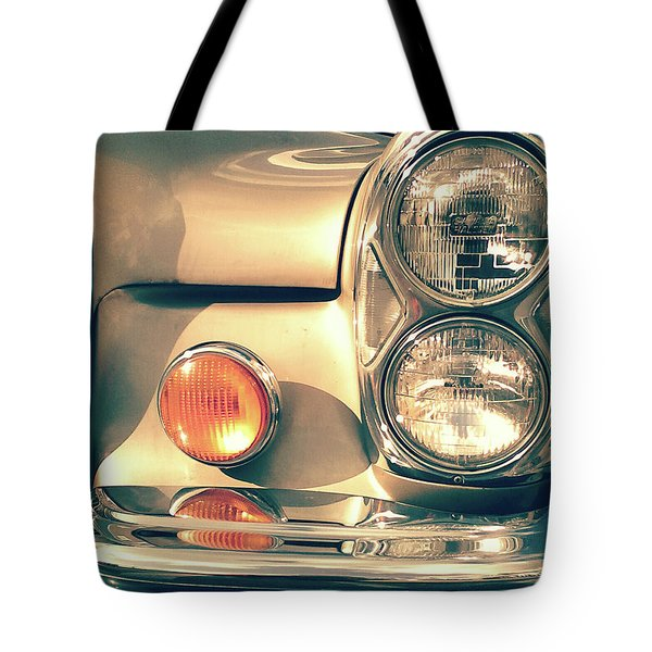 Tote Bag featuring the photograph Three Lights - Gold by Rebecca Harman