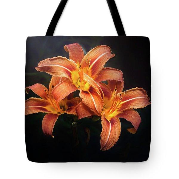 Three Lilies Tote Bag
