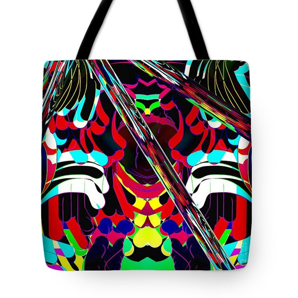 Tote Bag featuring the digital art Three Lines by Gayle Price Thomas